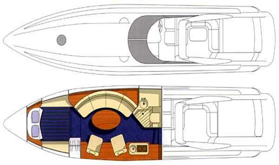План катера Sunseeler