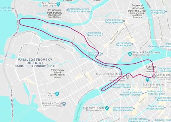 Двухчасовая прогулка по каналам парадной Невы