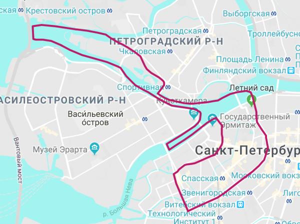 Маршрут Каналы и Парадная Нева
